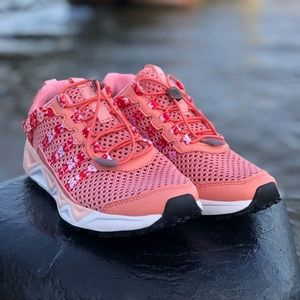 Coral Pink Mesh Running Sneaker